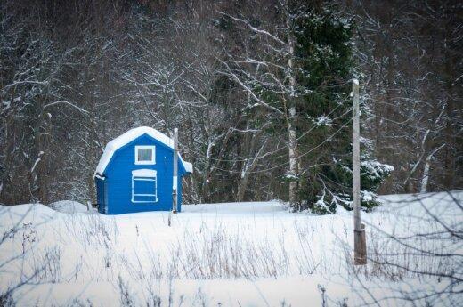 Nustebsite, kiek žmonių šaltuoju metų laikų užsuka į sodo namelius ir vasarnamius