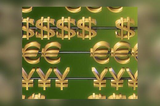 Pinigai, finansai, eurai, doleriai