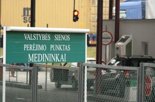 На границе Литвы с Беларусью - очереди грузовиков