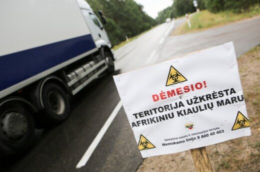 Swine flue effected area in the Ignalina region