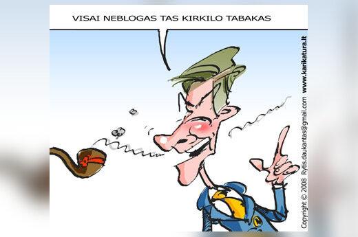 Artūras Paulauskas, socialliberalai, karikatūra
