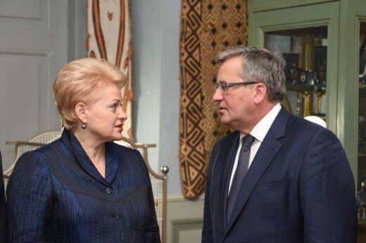 Dalia Grybauskaitė ir Bronislawas Komorowskis