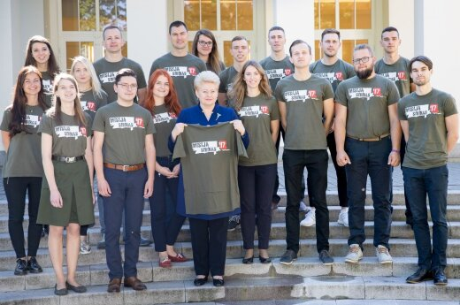 Lithuanian president Dalia Grybauskaitė  meets with Mission Siberia 2017 team