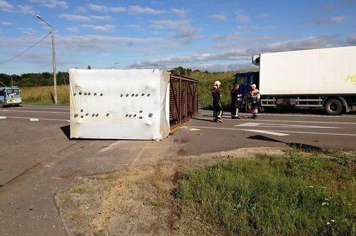 На Таллиннской окружной дороге литовские грузовики попали в аварию