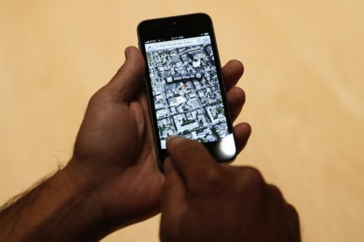 """""""Apple"""" žemėlapiai"""