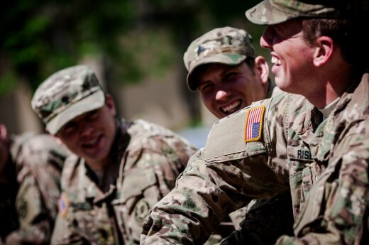 US soldiers in Vilnius