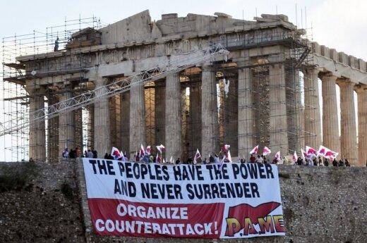 Protestai Graikijoje