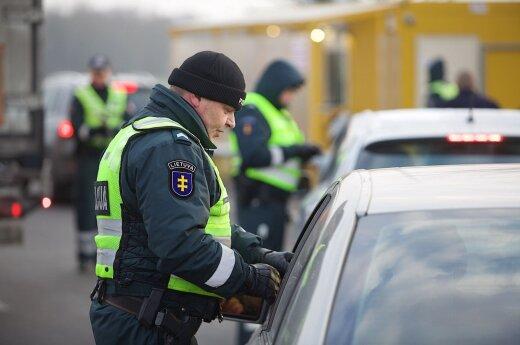 A police checkpoint
