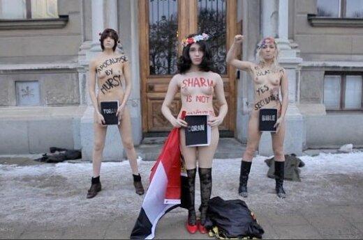 Szwecja: Aktywistki FEMEN całkowicie się rozebrały