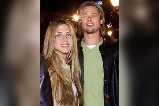 Brad Pitt ir Jennifer Aniston