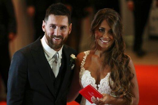 Lionelis Messi ir Antonella Roccuzzo
