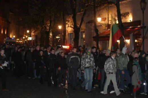 Националистически настроенная молодежь отметила возвращение Вильнюса