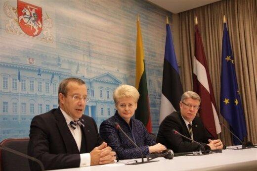 Baltijos šalių prezidentai: T.Ilves, D.Grybauskaitė, V.Zatlers