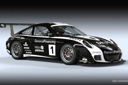 """Porsche 911 GT3 Cup S"" automobilis (Asmeninio archyvo nuotr.)"
