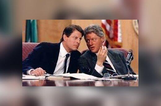 Al Gore ir Bill Clinton