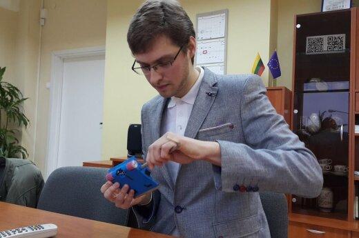 """Giedrius Liaučys dalyvavo Estijos sostinėje Taline vykstančiose robotų varžybose """"Robotex"""""""