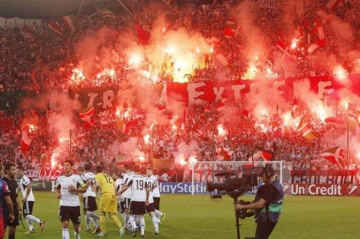 Bomba na stadionie w Polsce