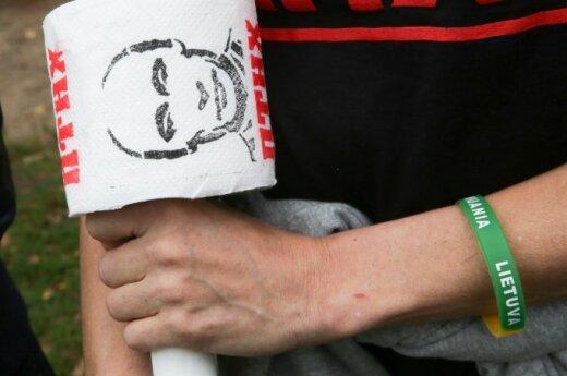 У российского посольства – пикет против агрессии на Украине