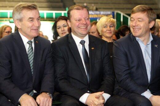 Viktoras Pranskietis, Saulius Skvernelis and Ramūnas Karbauskis