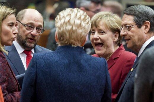 D. Grybauskaitė, F. Mogherini, M. Schultzas, A. Merkel, N. Anastasiades