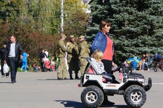 DELFI на Украине: фото из Славянска — солнечная погода и безмятежные жители