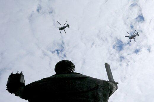 Military during training in Kaliningrad oblast