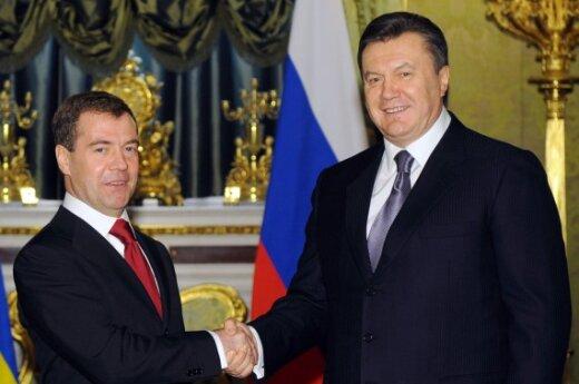 Dmitrijus Medvedevas ir Viktoras Janukovyčius