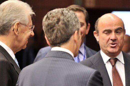 Ispanijos finansų ministras Luisas De Guindos ES ministrų susitikime