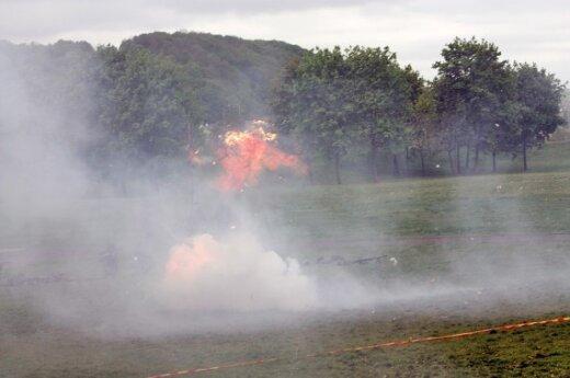 В 7 км от границы с Литвой произошел мощный взрыв