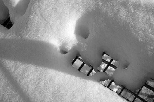 Зимой во дворах Вильнюса снег убирать не будут