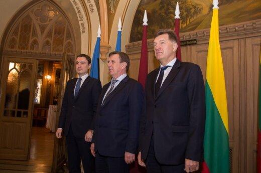 Baltic prime ministers. Photo LRV.lt