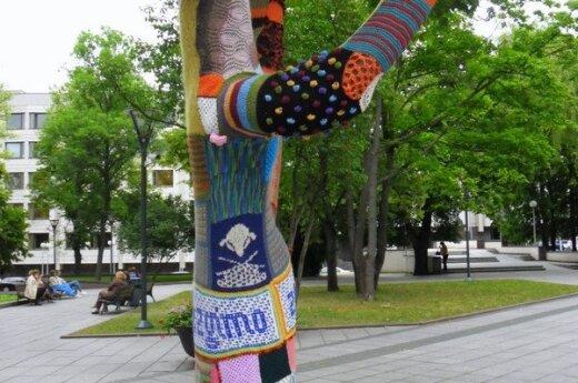 Yarn Bombing , fot. Ewelina Mokrzecka