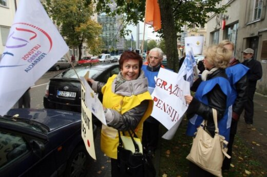В Литве протестуют профсоюзы