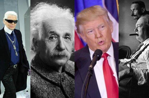 K. Lagerfeldas, A. Einsteinas, D. Trumpas, W. Churchillis