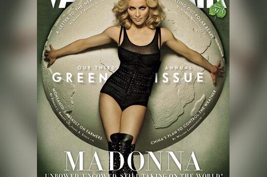 """Madonna žurnalo """"Vanity Fair Green Issue"""" viršelyje"""