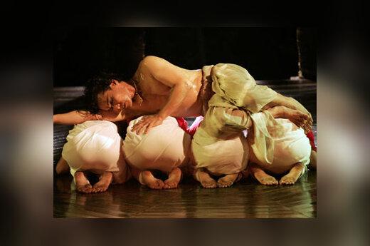 Malajų musulmonų modernaus šokio spektaklis