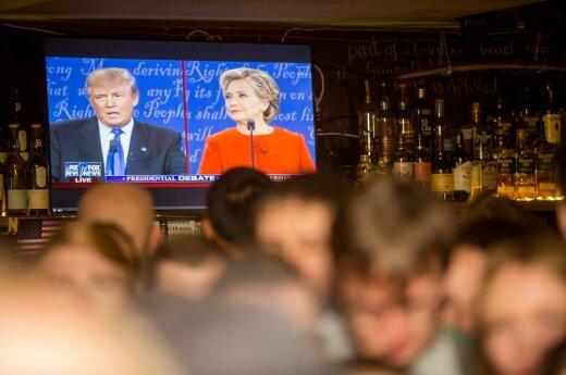 Vilniečiai stebi JAV debatus tarp Hillary Clinton ir Donaldo Trumpo
