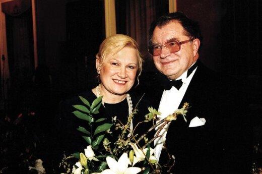Mikalojus Novikas su žmona Irena
