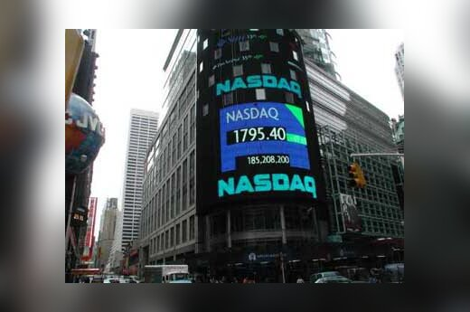 Nasdaq site on New York's Times Square