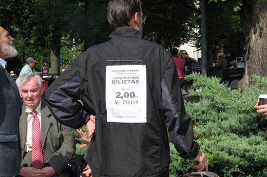Wilnianie protestują przeciwko reformom Zuokasa, fot. Ryszard Rotkiewicz