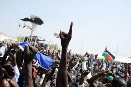 Sudaniečiai švenčia referendumo rezultatus, Pietų Sudanas