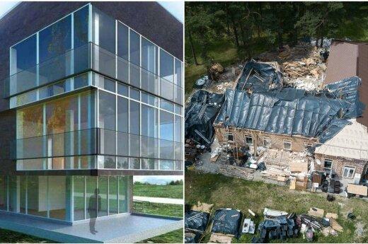 Skelbime pavaizduotas namas (kairėje) ir realus namas (dešinėje)
