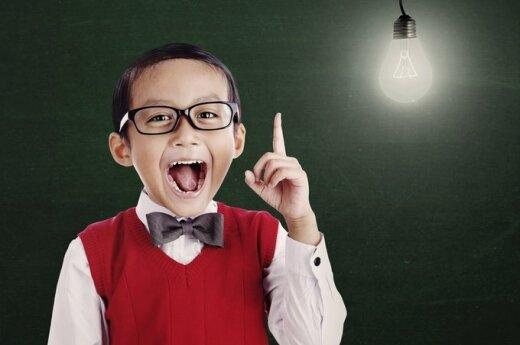 vaikas, berniukas, mokinys, protas, išradimas