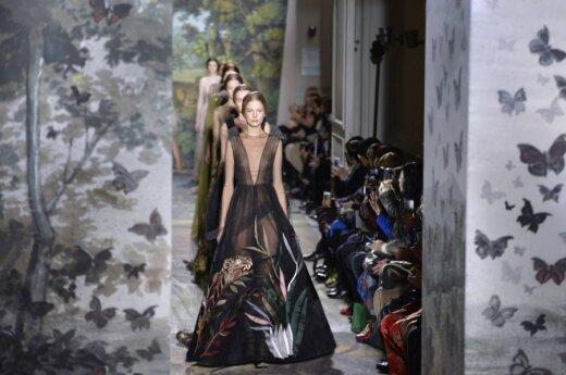 Valentino kolekcija Paryžiaus mados savaitėje