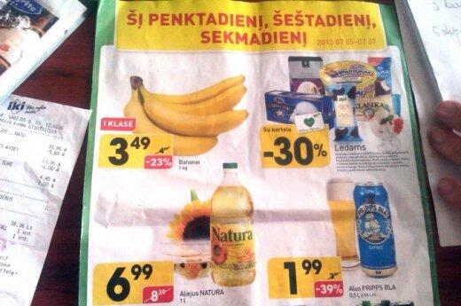Reklamoje kaina mažesnė – čekyje didesnė