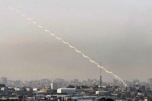 Gazos ruožo gyvenamoje teritorijoje paleista raketa į pietinę Izraelio dalį