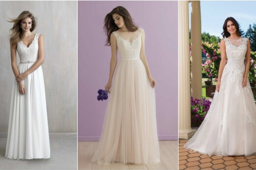 Svarbiausia renkantis vestuvinę suknelę - figūros tipas