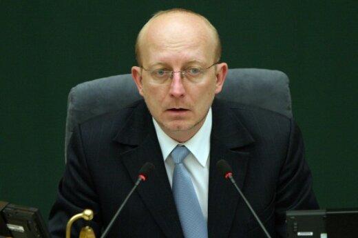 Seimo pirmininkas Panevėžyje koneveikė bankus