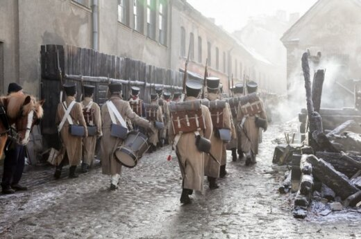 BBC shooting War and Peace in Vilnius
