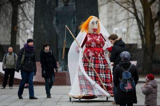 В Вильнюсе празднуют Масленицу